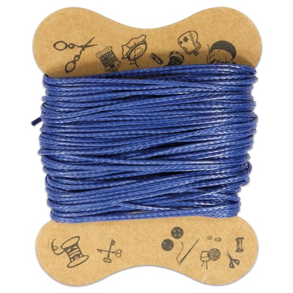 Kordel gewachst 0,5mm 10m dunkelblau 90 % Polyesterfaser/10 % Baumwolle