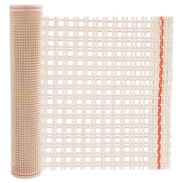 Stramin Untergrund für Knüpfteppiche 50cm breit 1m 100% Baumwolle, 13 Fäden/10cm, hellbeige