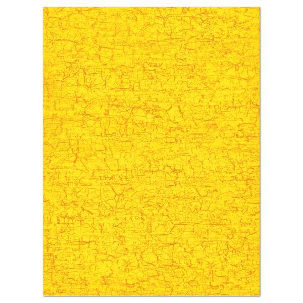Decoupagepapier gelb von Décopatch, 30x40cm, 20g/m²