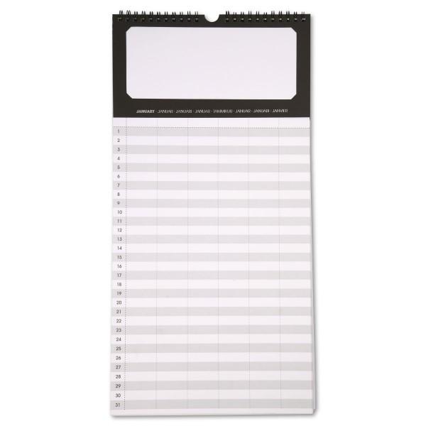 Kalender 180g/m² 44x22cm 12 Seiten schwarz/weiß Ausschnitt 19x8cm