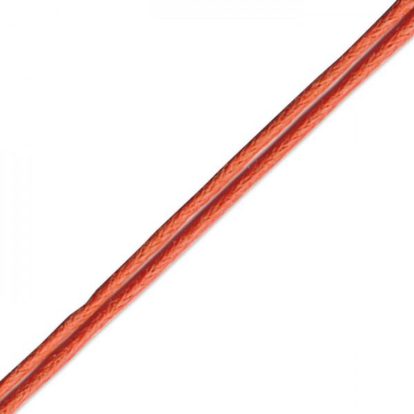 Kordel gewachst 1mm 10m orange Synthetik