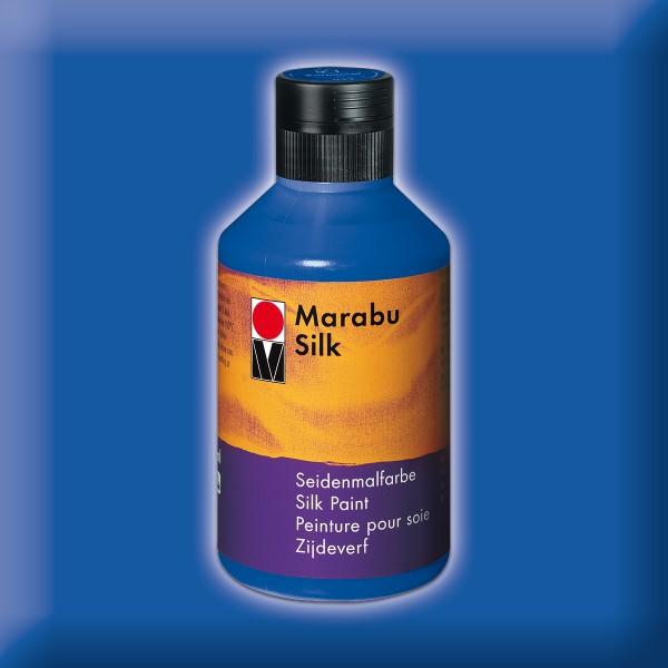 Marabu Silk 250ml mittelblau Seidenmalfarbe