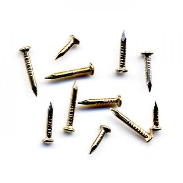 Nägel Mini Metall 6/8/10mm 50g vermessingt