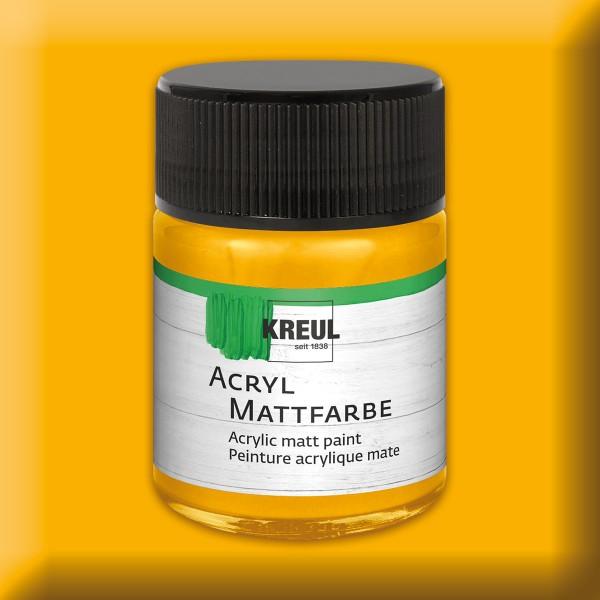 KREUL Acryl-Mattfarbe 50ml goldgelb