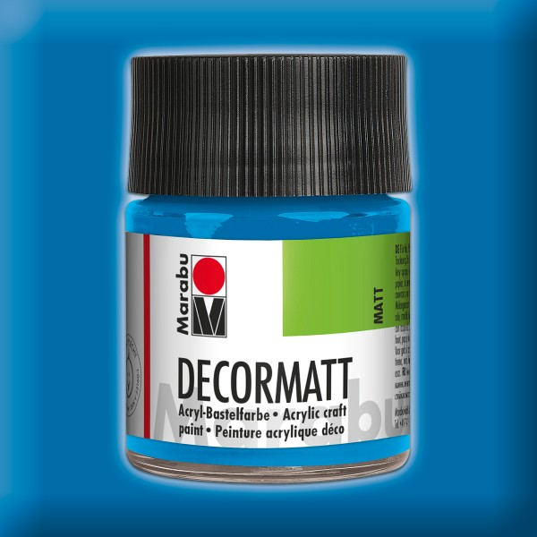 Decorlack Acryl matt 50ml azurblau