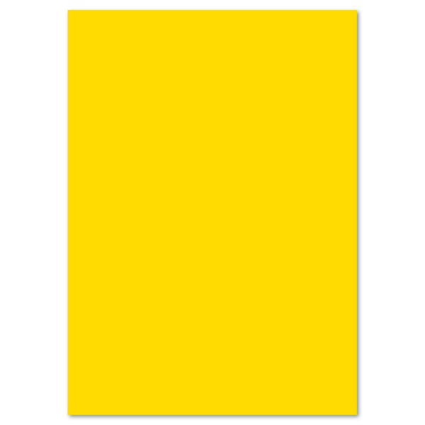 Tonkarton 220g/m² 50x70cm 25 Bl. bananengelb