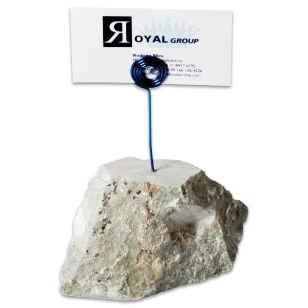 Notizzettelhalter Speckstein ca. 400-500g ca. 90x95x75mm mit Metallspange, Form&Farbe zufällig, Maße