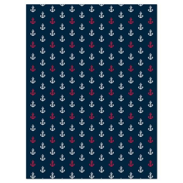 Decoupagepapier dunkelblau mit Ankern ro von Décopatch, 30x40cm, 20g/m²