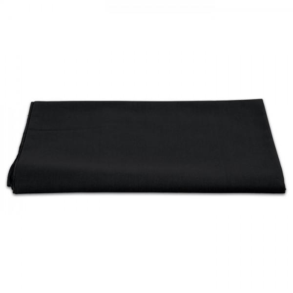 Baumwollstoff Meterware 145cm breit uni schwarz 100% Baumwolle