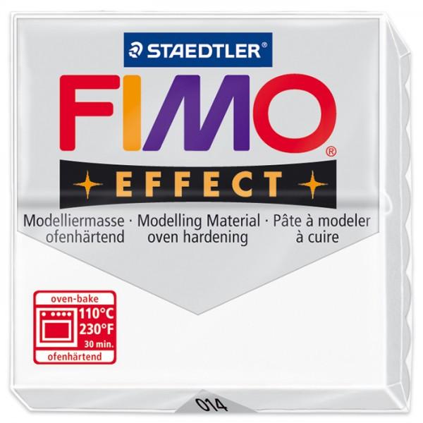 FIMO effect 55x55x15mm 57g transluzent weiß ofenhärtende Modelliermasse