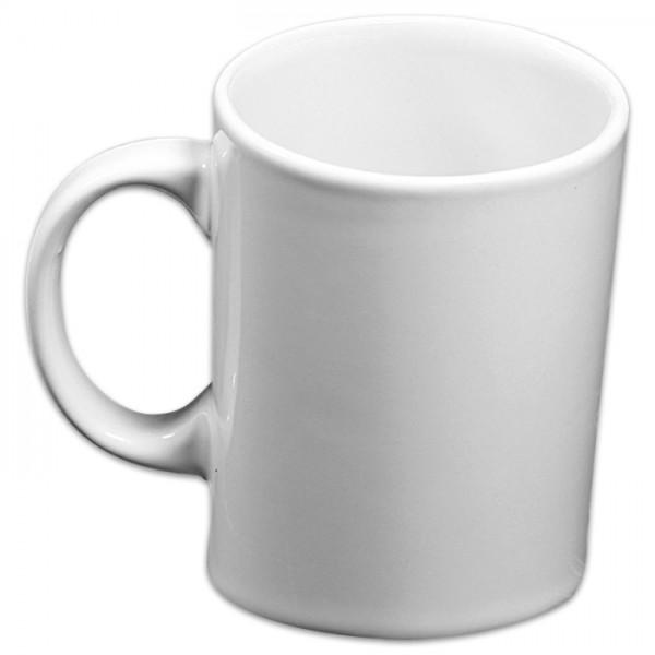 Tasse Pisa schräg Porzellan 0,25l weiß ca. Ø 7,5x11cm