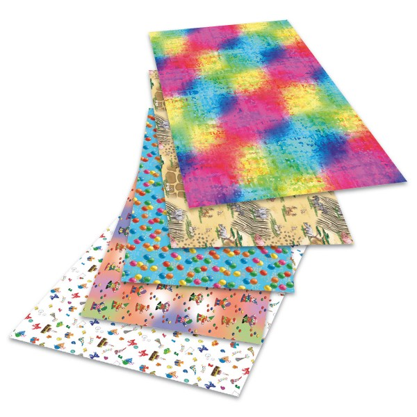 Transparentpapier 50,5x70cm 10 Bl. Kids 115g/m², 5 Motive
