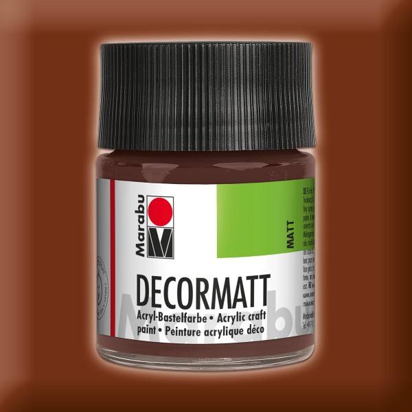 Decorlack Acryl matt 50ml mittelbraun