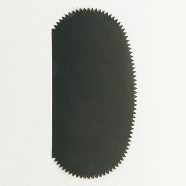 Ziehklinge Edelstahl 10x5cm gezahnt 0,2mm stark