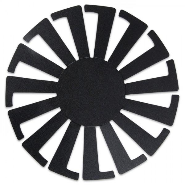 Korbflechtschablone Kunststoff 14x8cm schwarz