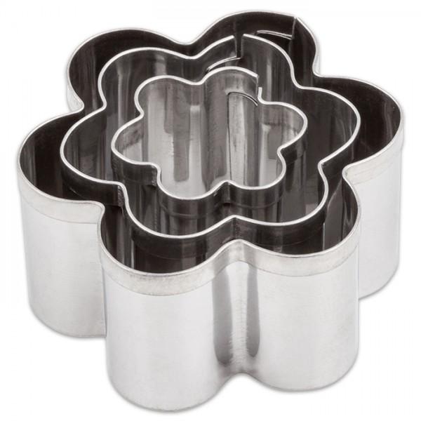 Ausstechformen Metall ca. 2-4cm 3 St. Blumen