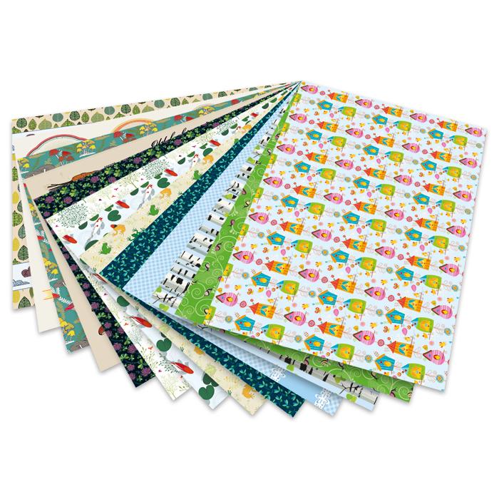 13x folia Motivkarton Strukturen 13 Motive sortiert Bastelkarton Tonpapier Pappe