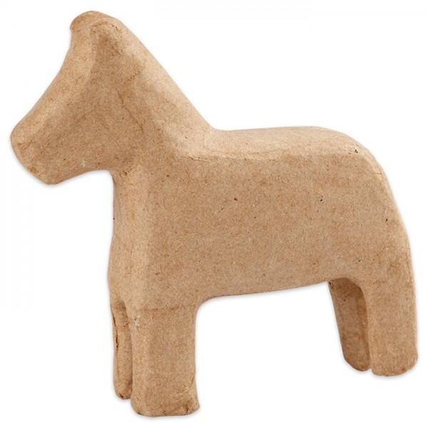 Pferd klein Pappmaché 13,5x14x3,5cm