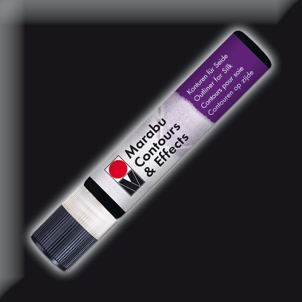 Contours & Effects 25ml schwarz Konturenfarbe für Seide