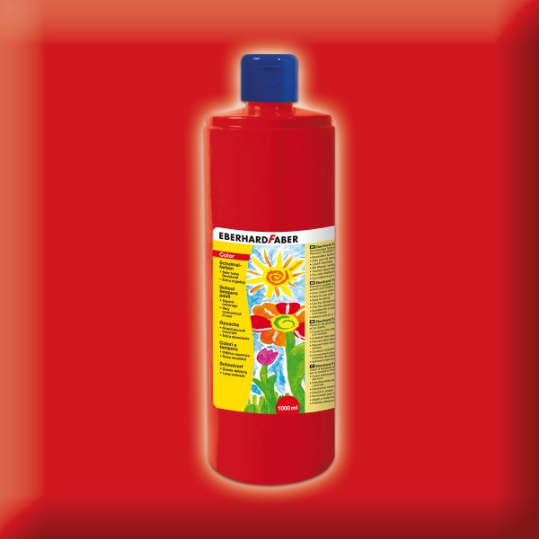 Color-Schulmalfarbe 1.000ml karmin