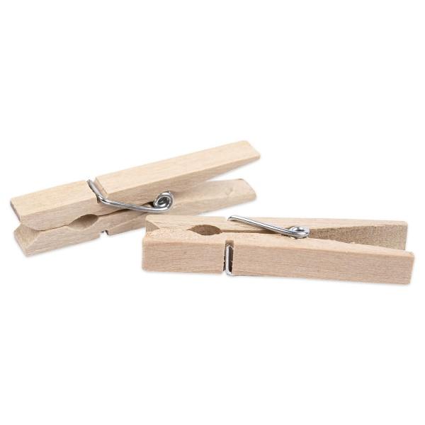 Wäscheklammern Holz 48x6mm 50 St. natur