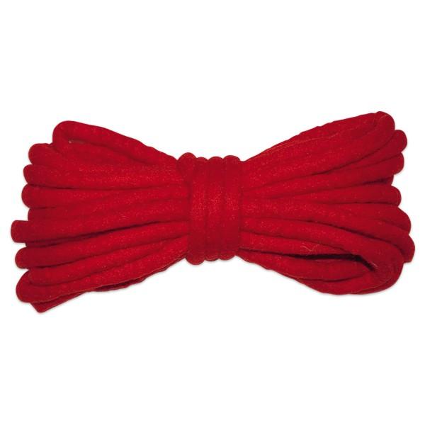 Filzschnur 3mm 5m rot 100% Wolle, handgefertigt