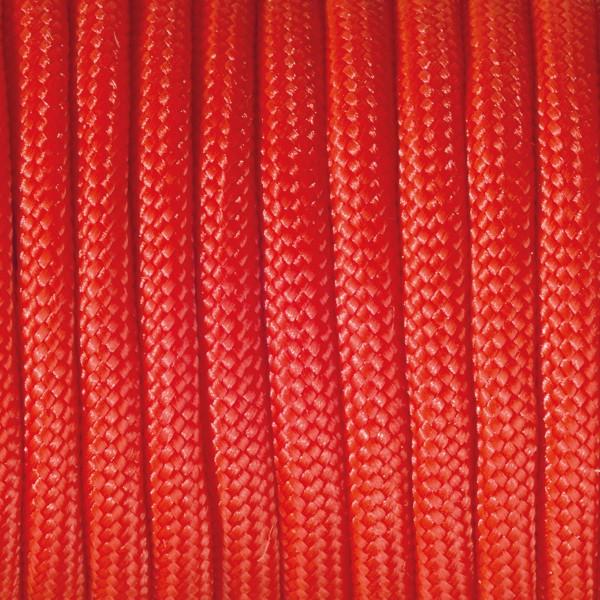 Paracord-Garn rund 4mm 50m rot Makramee-Knüpfgarn, 60% Polypropylen, 40% Polyester