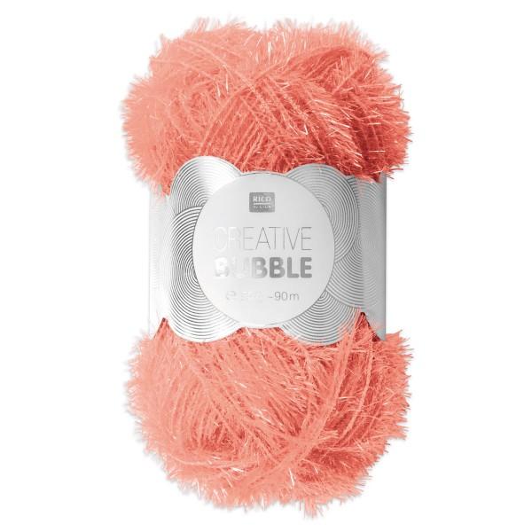 Creative Bubble Wolle 50g ca. 90m melone Nadel Stricken Nr. 2, Häkeln Nr. 4, 100% Polyester