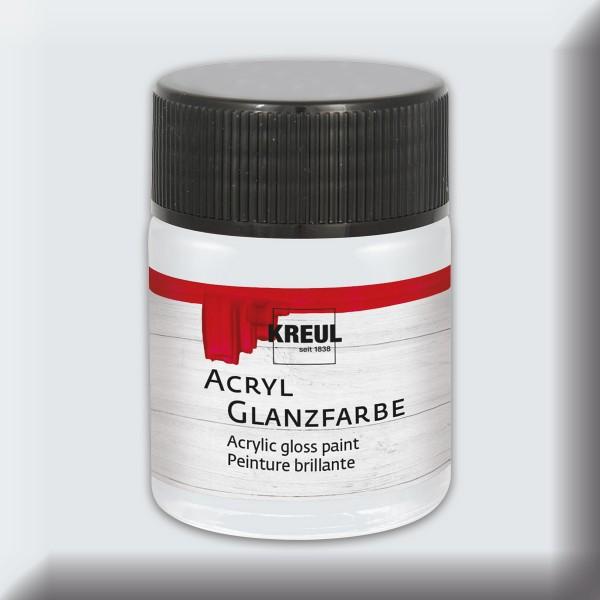 Acryl-Glanzfarbe 50ml hellgrau