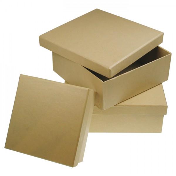 Pappschachtel Quadrat 15,5x15,5x7,5cm