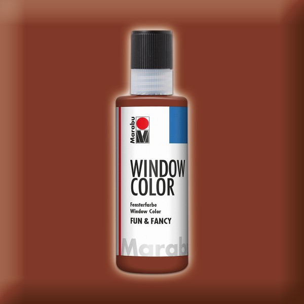 Marabu fun&fancy 80ml mittelbraun Windowcolor