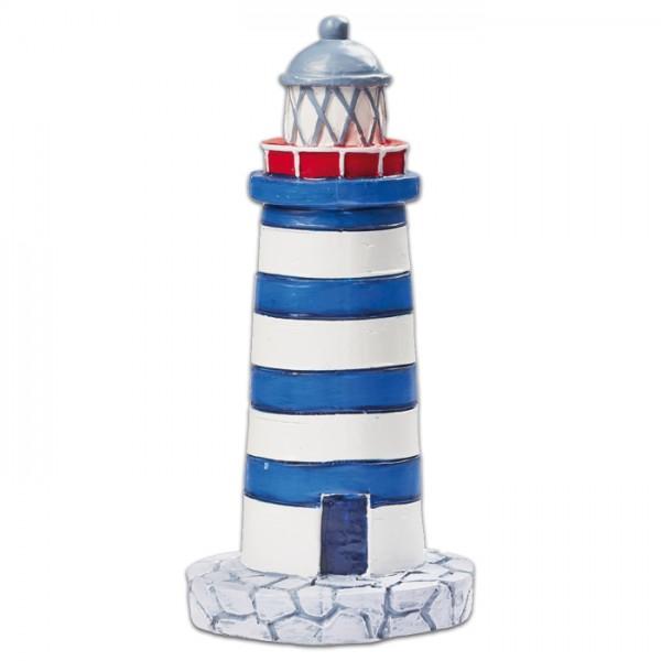 Leuchtturm Kunststoff ca. 75mm blau/weiß