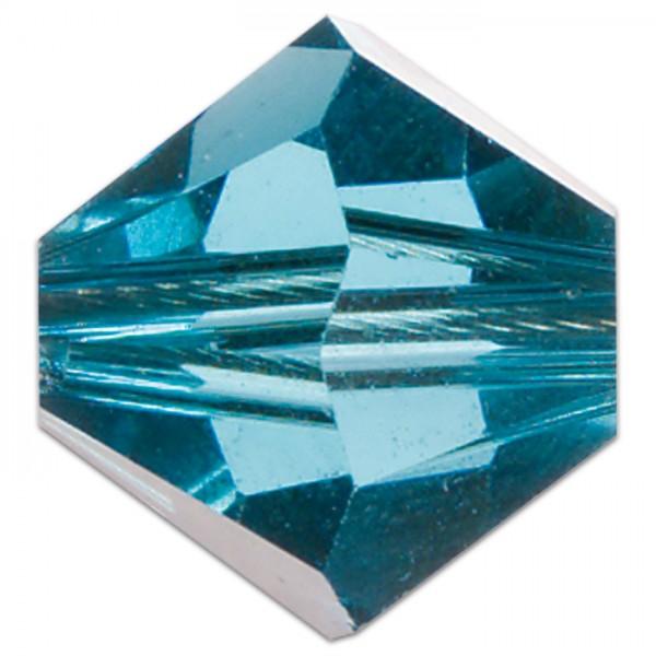 Glasschliffperle 8mm 5 St. indicolite Swarovski, Lochgr. ca. 1mm