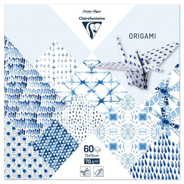 Origami-Papier 15x15cm 60 Bl. Shibori 70g/m², 30 Motive