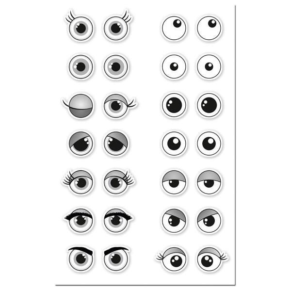 3D-Augensticker Kunststoff Ø10mm 28 Paare