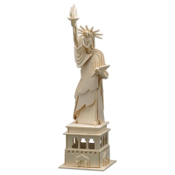 Holzbausatz Freiheitsstatue 39x11cm 69 Teile vorgestanzt, zum Zusammenstecken