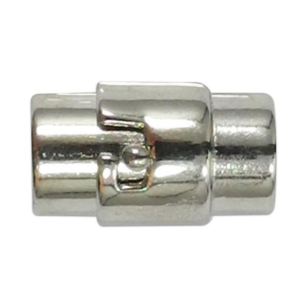 Magnetverschluss zum drehen 17x8mm platinfarben Innendurchmesser 6mm, Metall