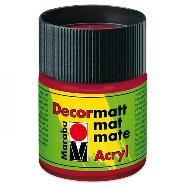 Decorlack Acryl matt 50ml karminrot