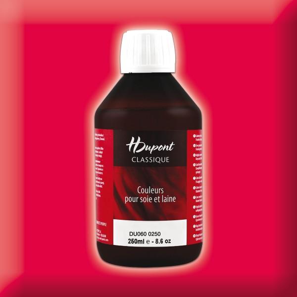H.Dupont Classique 250ml Targa/rot Seidenmalfarbe, Dampffixierung