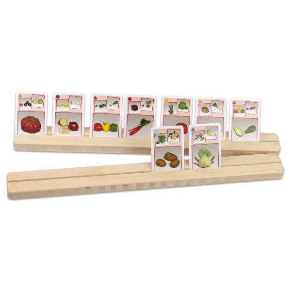 Kartenhalter Holz 47x4cm 2 Setzleisten