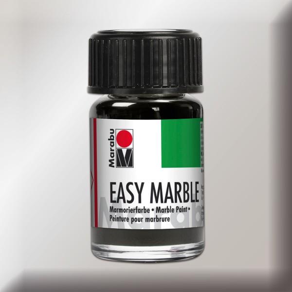 Easy Marble 15ml silber Marmorierfarbe