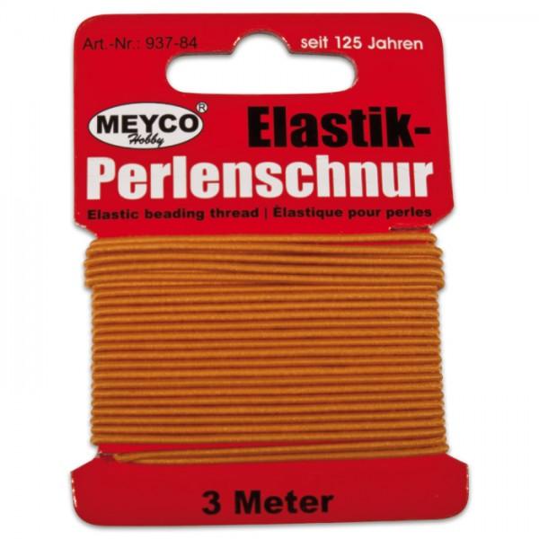 Elastik-Perlenschnur 0,9-1mm 3m goldgelb 20% Polyester, 80% Elastodien (Latex)