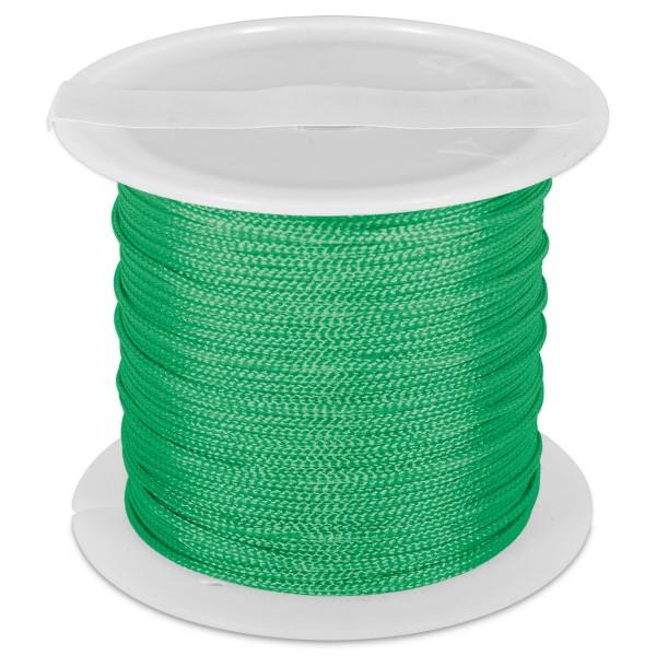 Knüpfgarn glänzend 1mm 5m grün 100% Polyester