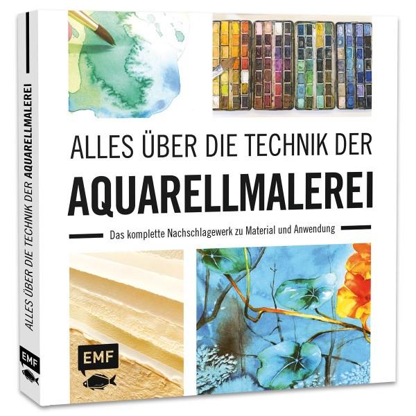Buch - Alles über die Technik der Aquarellmalerei 144 Seiten, 23x23,5cm, Hardcover
