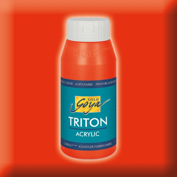 Triton Acrylfarbe 750ml echtrot
