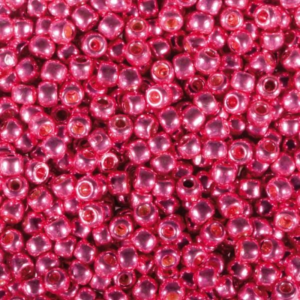 TOHO-Beads Glas 2,2mm 9g pink metallic Lochgr. ca. 0,9mm