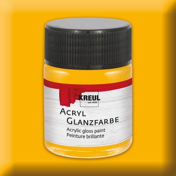 KREUL Acryl-Glanzfarbe 50ml dunkelgelb