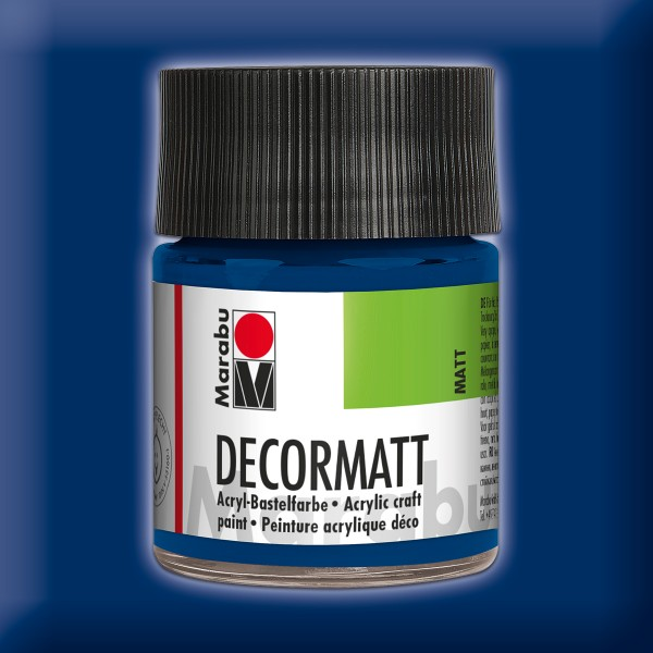 Decorlack Acryl matt 50ml dunkelblau
