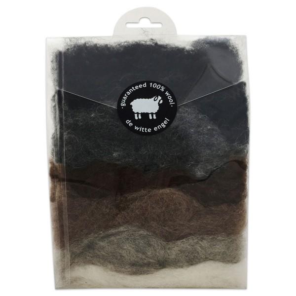 Wunderwolle 49g 7 Naturfarben 100% Wolle