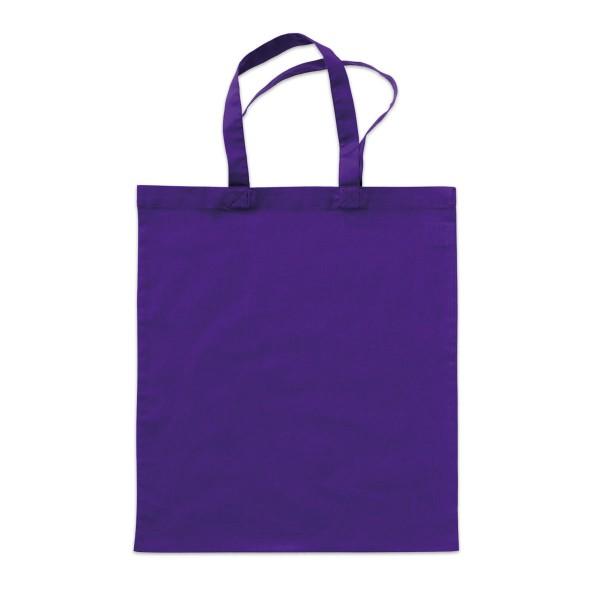 Tragetasche 38x42cm violett 100% Baumwolle, Bio-Qualität